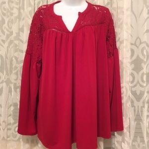 Lane Bryant Red Blouse size 18/20